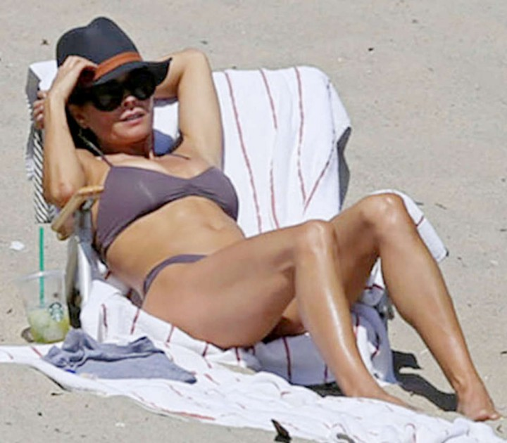 Brooke Burke in Bikini on Malibu Beach