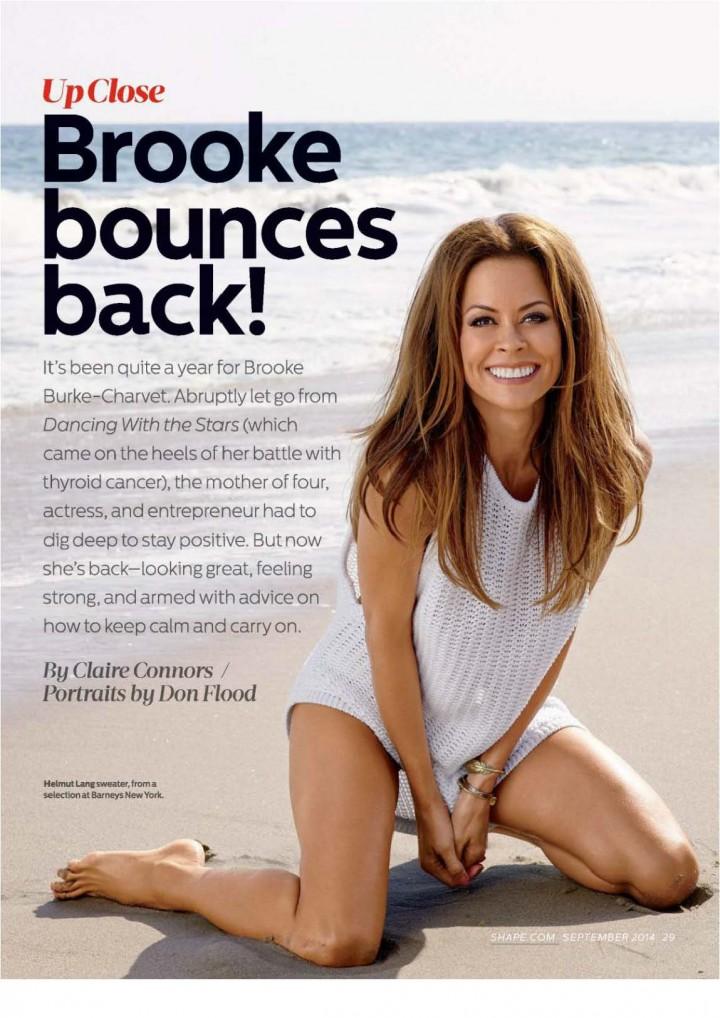 Brooke Burke – Shape Magazine (September 2014)