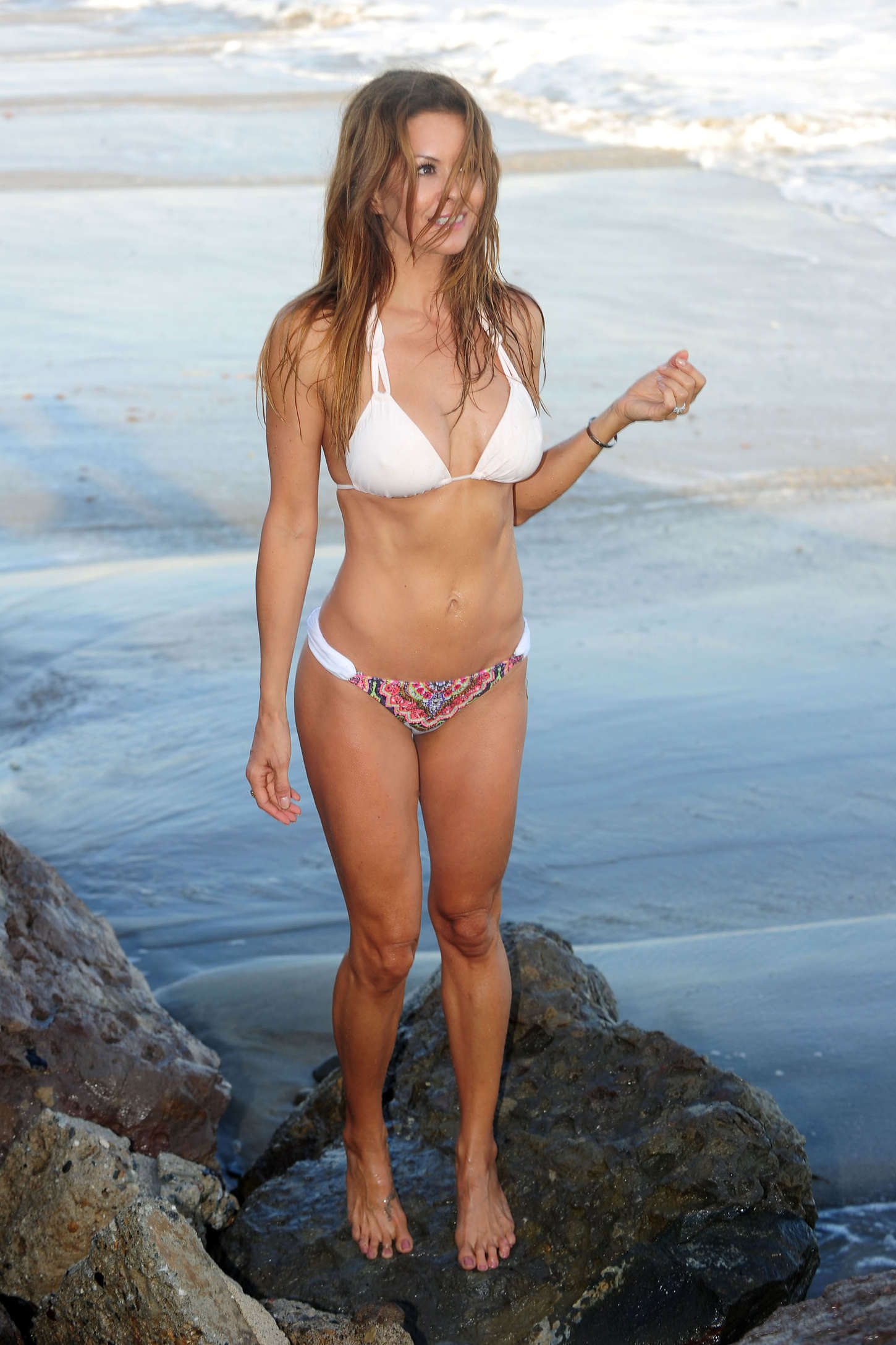 brooke burke in white bikini