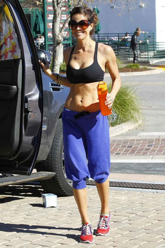 Brooke Burke - Workout in Malibu