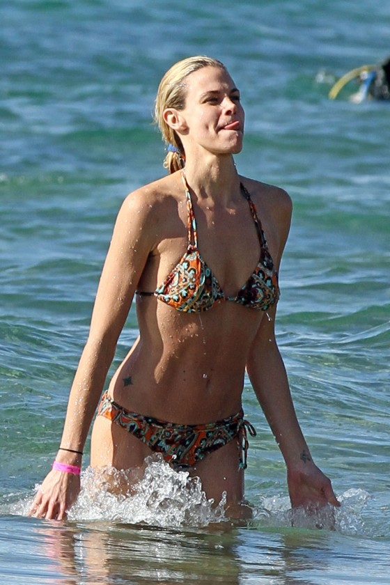 Brooke Burns – Bikini Candids on a beach in Maui-05