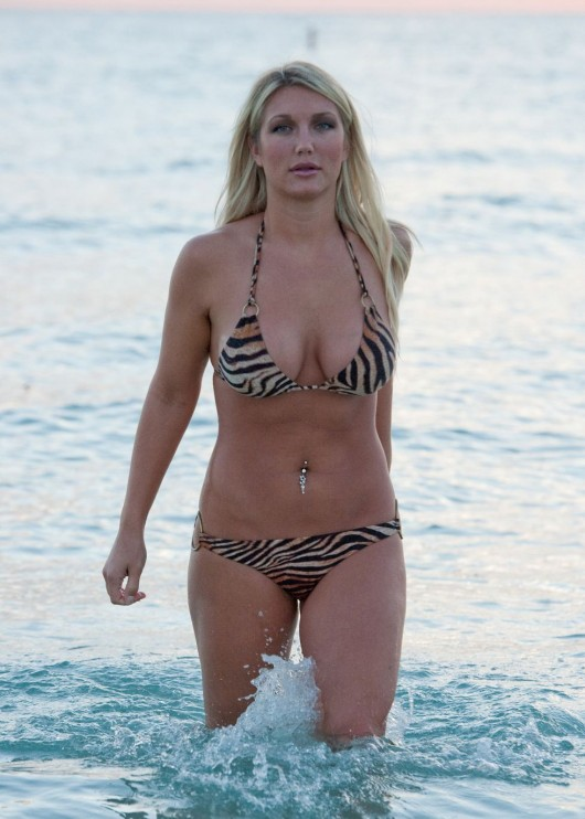 Brooke Hogan – In bikini for a shoot in Miami Beach | GotCeleb