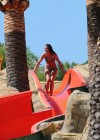 Brooke Vincent - Wearing a leopard print bikini -01