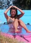 Brooke Vincent - Wearing a leopard print bikini -18