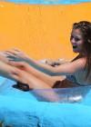 Brooke Vincent - Wearing a leopard print bikini -42