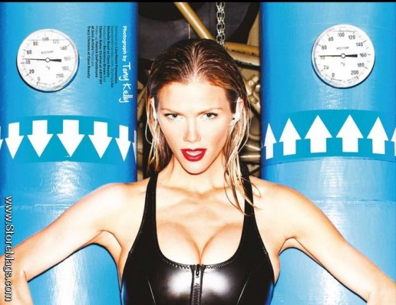 Brooklyn Decker cleavage for GQ 2012 issue-01