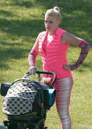 Busy Philipps on the set for 'Cougar Town' in  Los Angeles