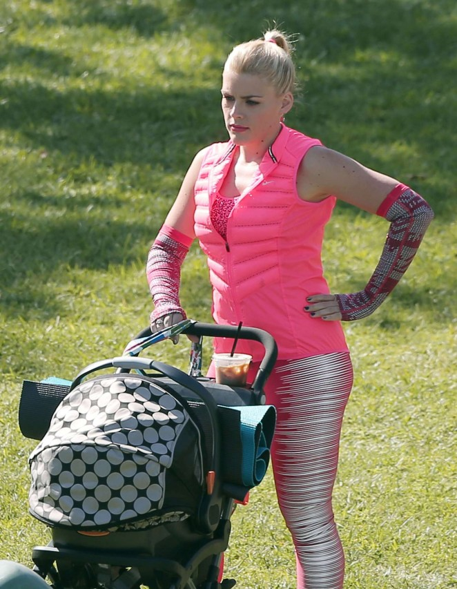 """Busy Philipps on the set of """"Cougar Town"""" in LA"""