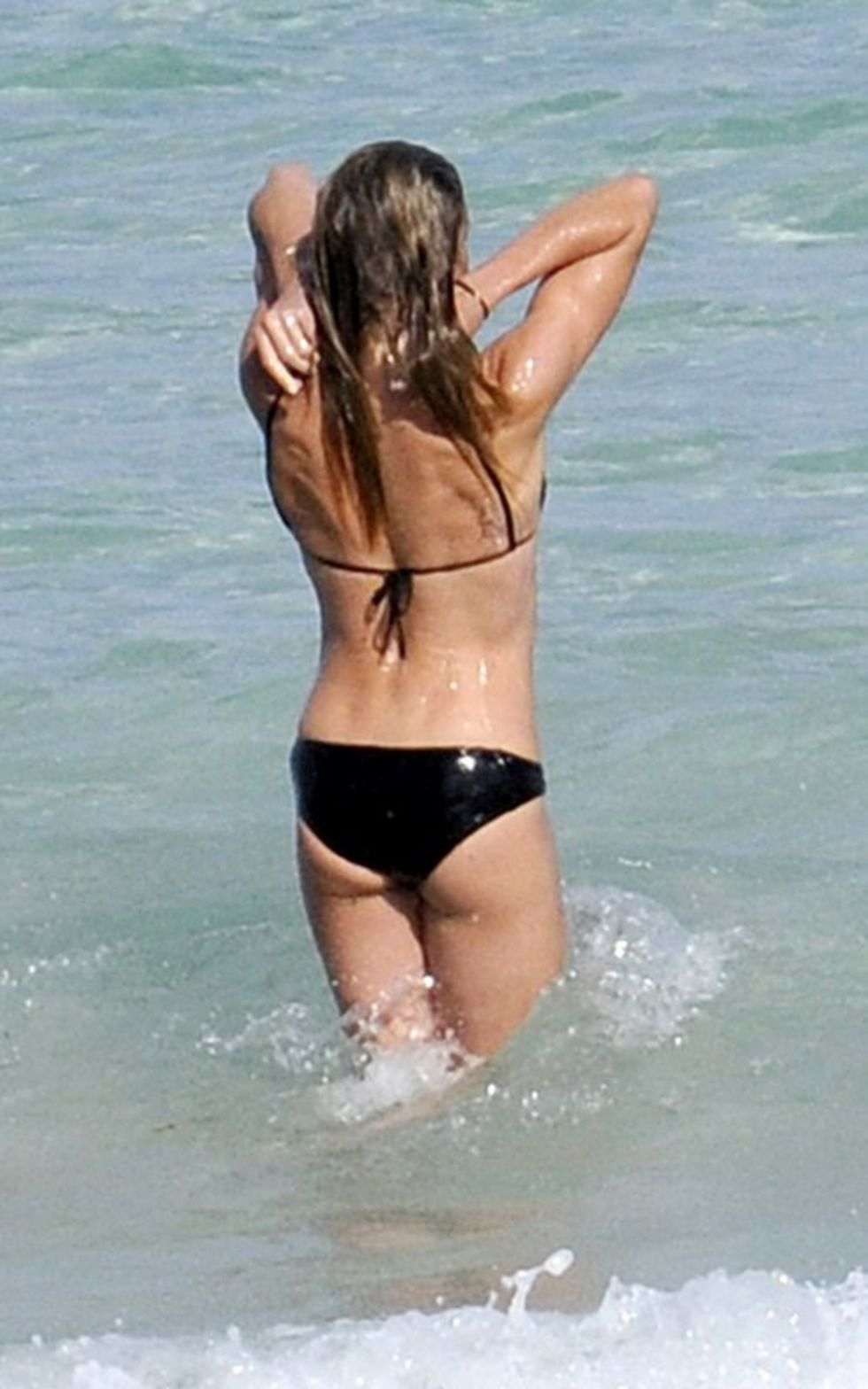 Cameron Diaz And Alex Rodriguez On The Beach In Miami
