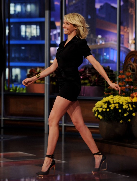 Cameron Diaz  - Leggy Candids in Tight Short Dress-02