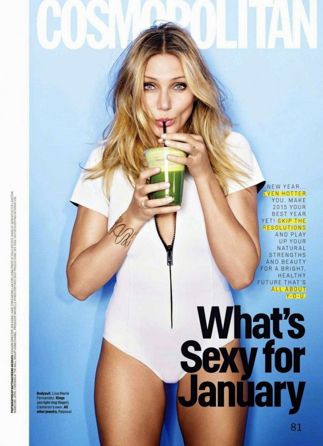 Cameron Diaz - Cosmopolitan USA Magazine (January 2015)