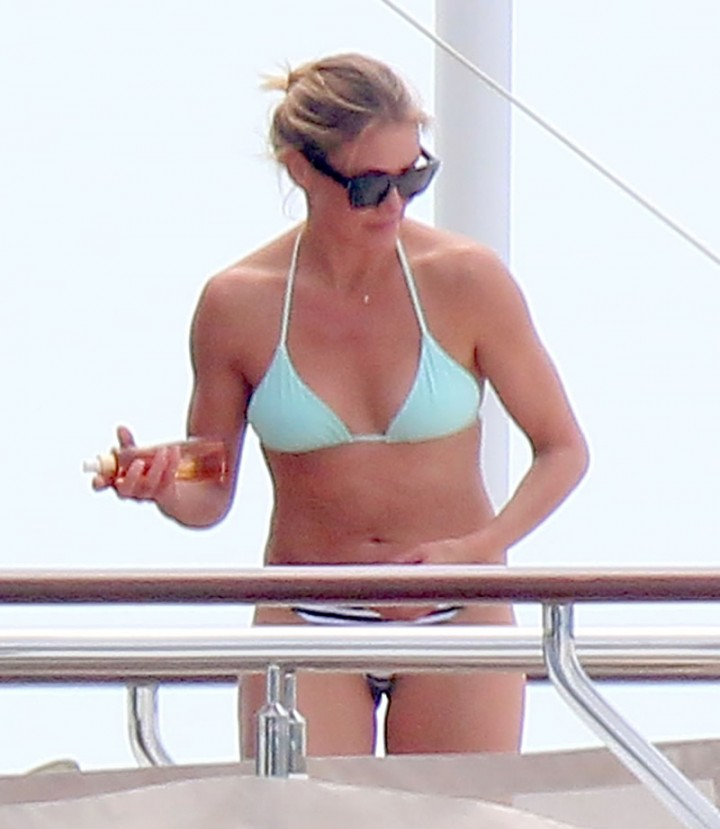 Cameron Diaz in a bikini on vacation with Benji Madden in Antibes