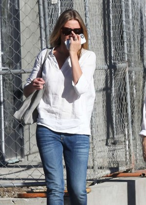 Cameron Diaz in Jeans Leaving Gracias Madre in West Hollywood