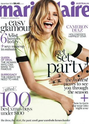 Cameron Diaz - Marie Claire Australia Magazine Cover (December 2014)