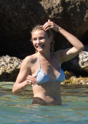 Cameron Diaz Bikini Photos: 2014 in Caribbean -19