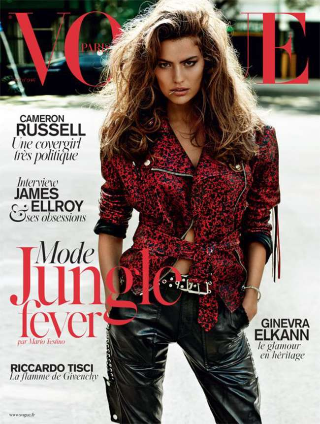 Cameron Russell: Vogue Paris Cover -01