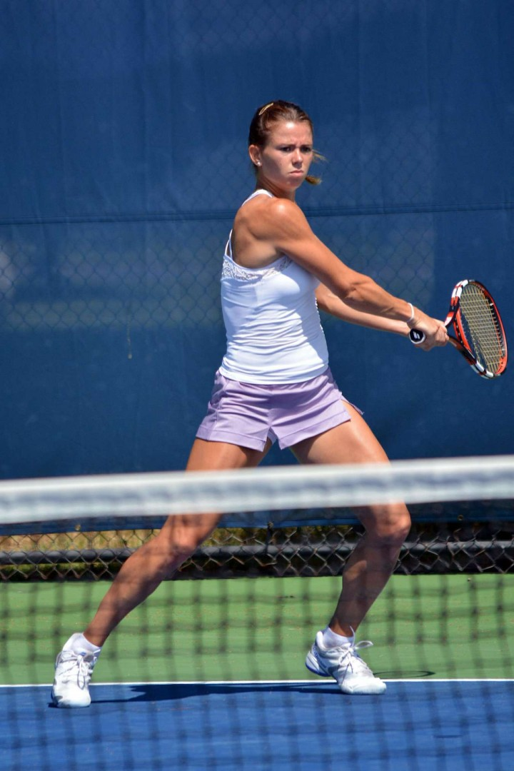 Camila Giorgi - Practice at the 2014 Connecticut Open