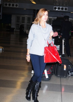 Camilla Belle in Tight Jeans Arriving at JFK Airport in NYC