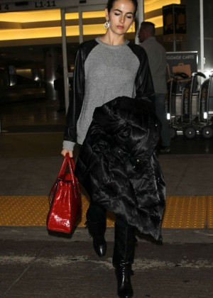 Camilla Belle at LAX Airport in Los Angeles
