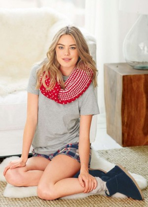 Camille Rowe - Next Sleepwear Photoshoot (Winter 2014)
