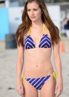 Candace Bailey - Bikini candids on the beach for Wavejet surfing
