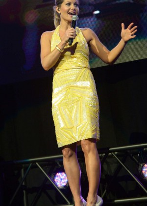 Candace Cameron in Yellow Dress-12