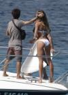 Candice Swanepoel in white bikini 2013 VS photoshoot-01