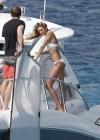 Candice Swanepoel in white bikini 2013 VS photoshoot-04