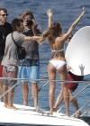 Candice Swanepoel in white bikini 2013 VS photoshoot-08