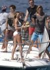 Candice Swanepoel in white bikini 2013 VS photoshoot-09