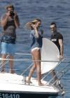 Candice Swanepoel in white bikini 2013 VS photoshoot-14