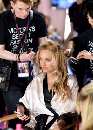 Candice Swanepoel - 2014 Victoria's Secret Show Backstage in London