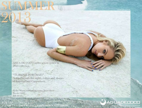 Candice Swanepoel -on the preview of the Agua De Coco campaign Summer 2013