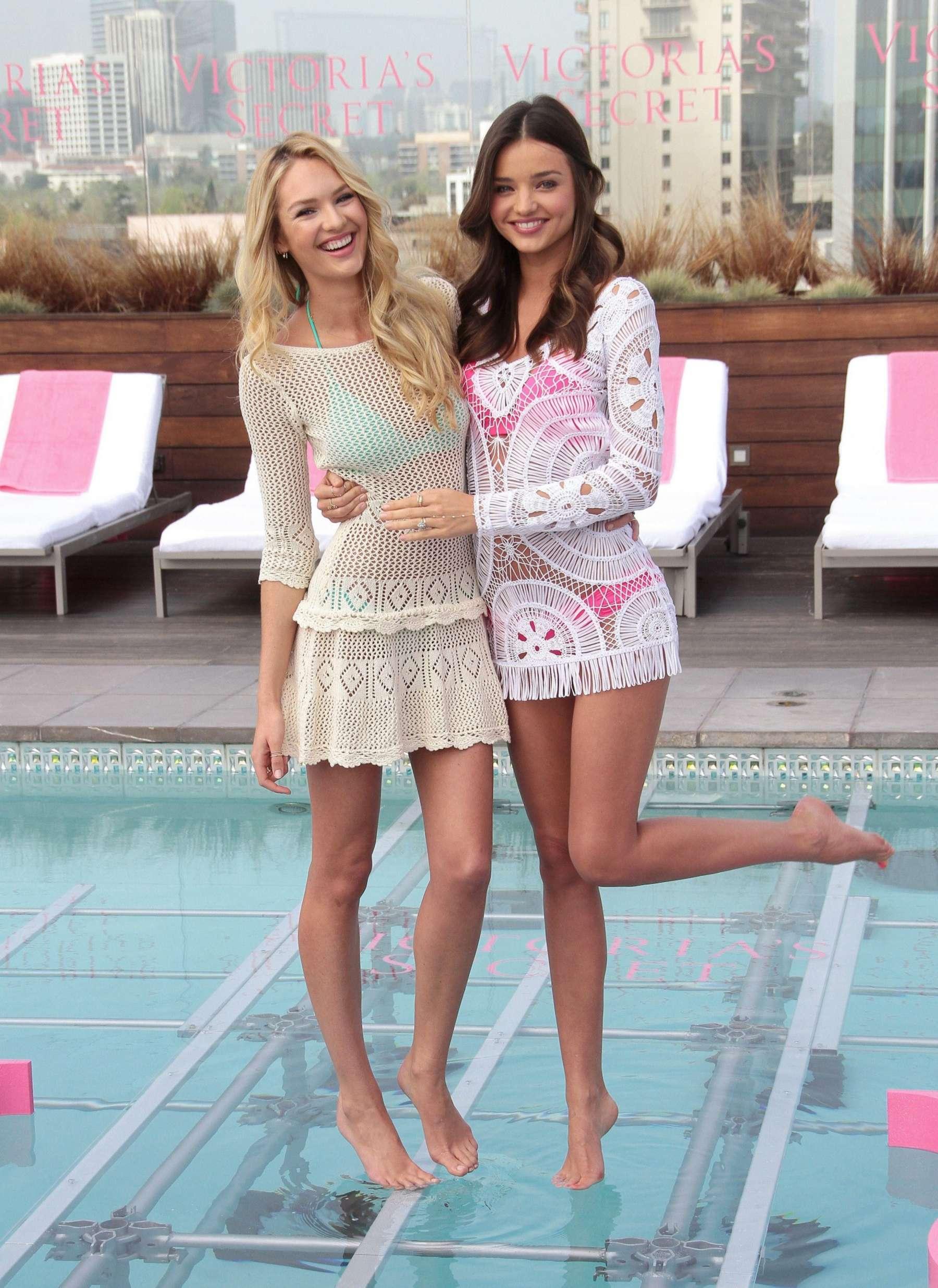 Candice Swanepoel and Miranda Kerr – 2012 Victorias Secret ...