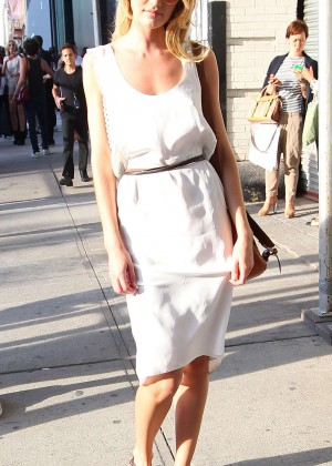 Candice Swanepoel at Diane von Furstenberg NYFW in NYC