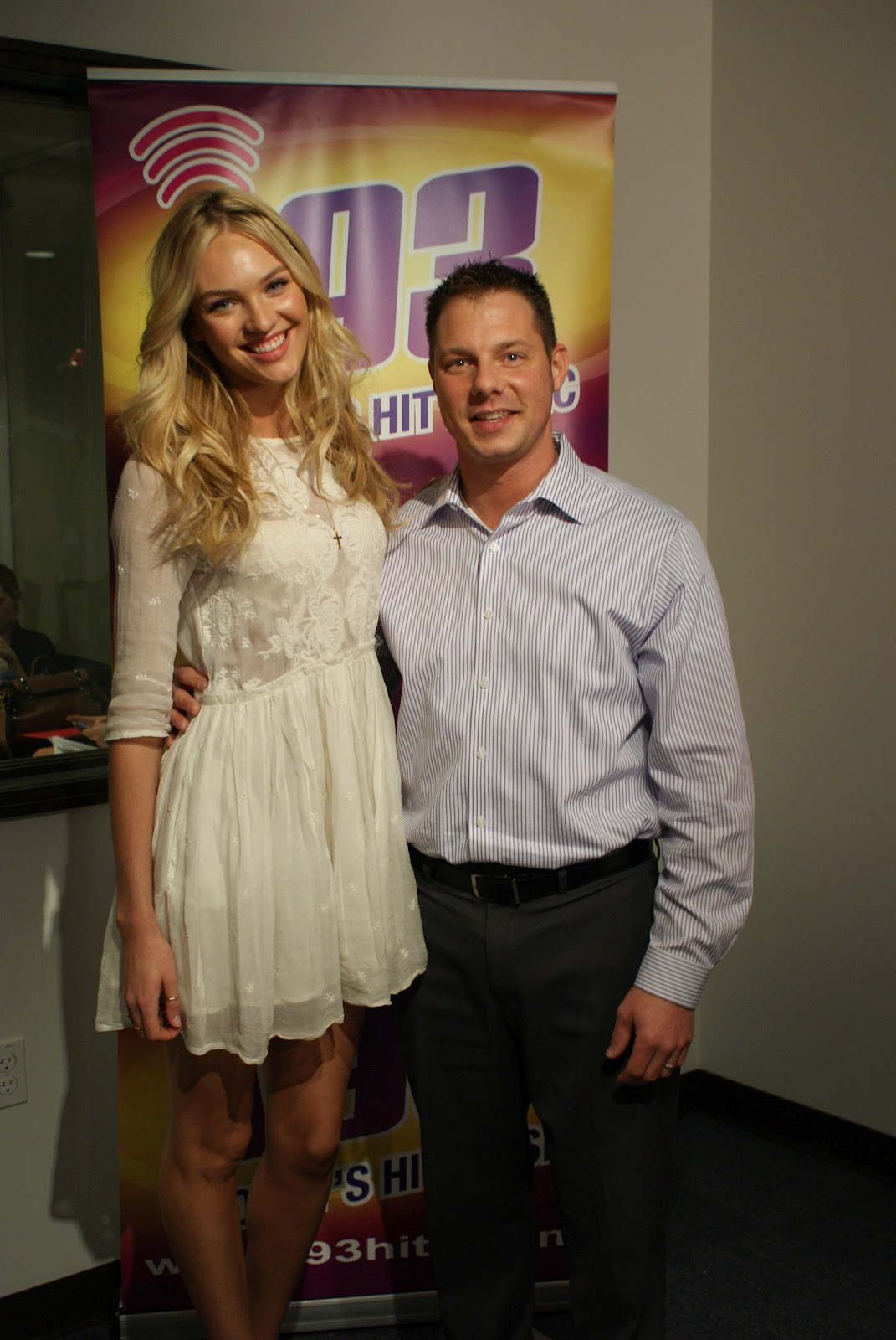 Candice Swanepoel at i93 Radio-04