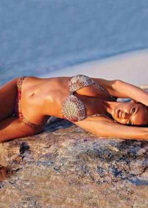 Candice Swanepoel: VS Bikini Shoot 2014 -11