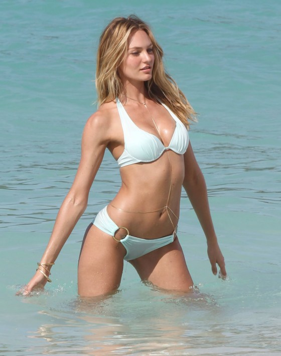 Candice Swanepoel - Bikini PhotoShoot in St Barts -03
