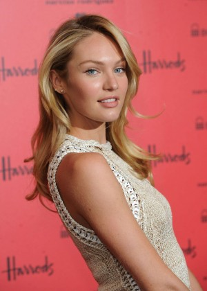 Candice Swanepoel: Bottletop collection launch in London  -04