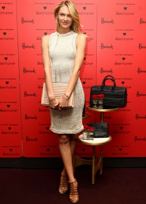 Candice Swanepoel: Bottletop collection launch in London  -24