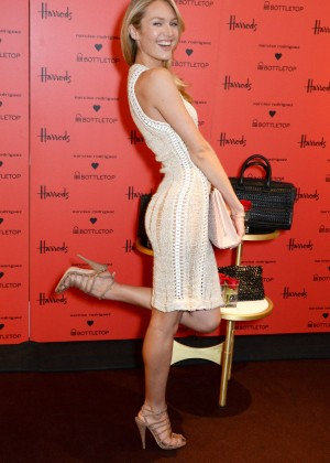 Candice Swanepoel: Bottletop collection launch in London  -30