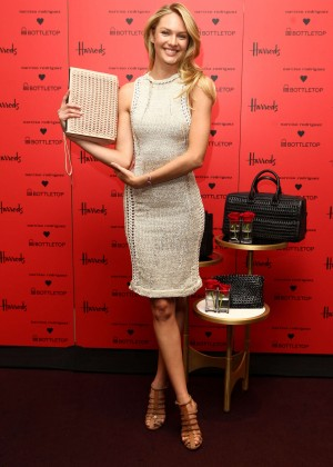 Candice Swanepoel: Bottletop collection launch in London  -32