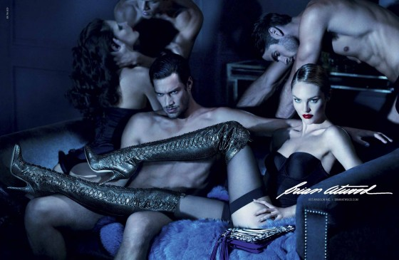 Candice Swanepoel Photo shoot for Brian Atwood FallWinter 2012/2013 Campaign