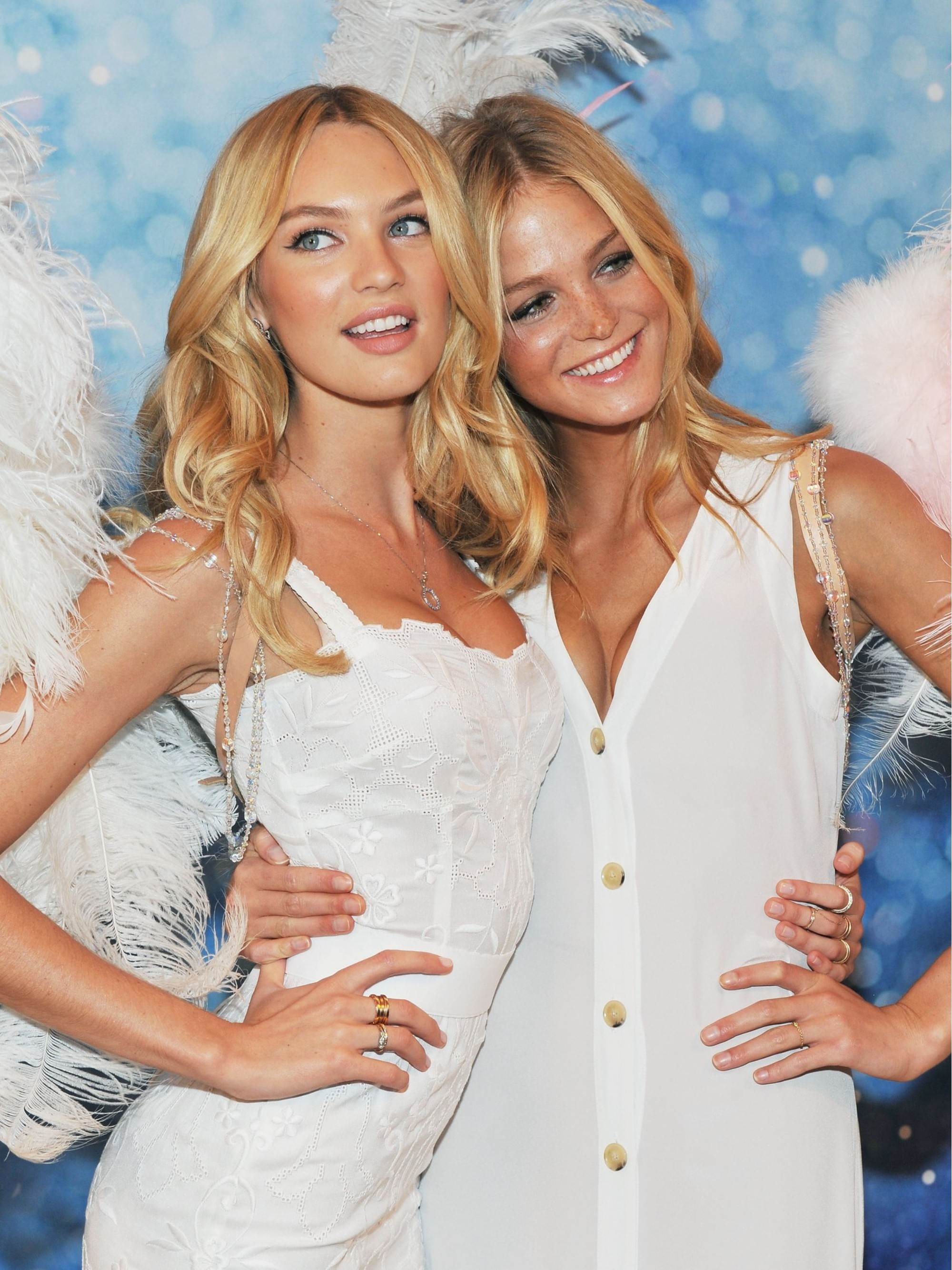 Candice Swanepoel And Erin Heatherton Hot In White Dress