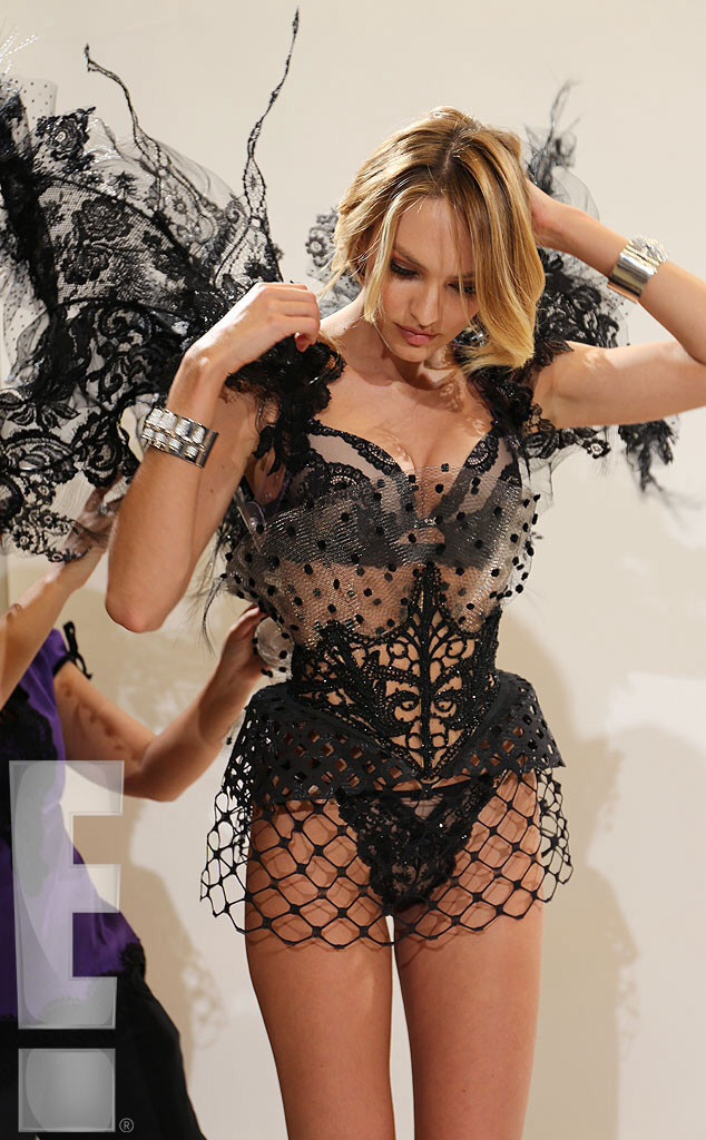 Candice Swanepoel – Fitting for the 2014 VS Fashion Show Behind the Scenes -02