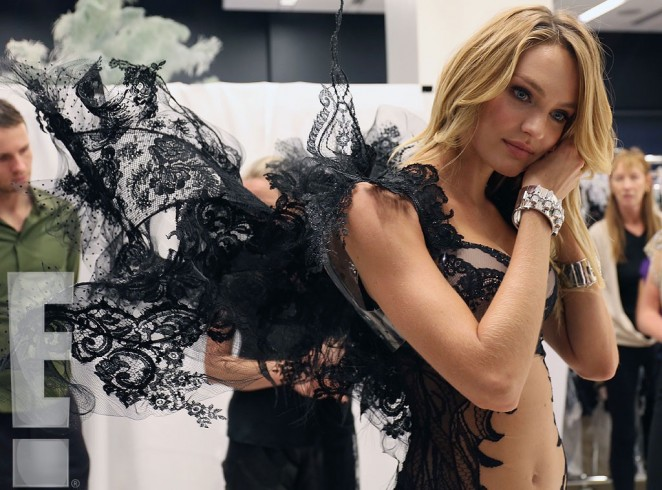 Candice Swanepoel – Fitting for the 2014 VS Fashion Show Behind the Scenes -05
