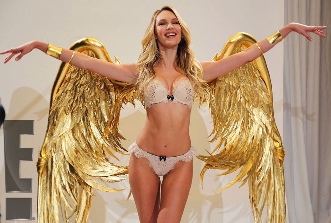 Candice Swanepoel – Fitting for the 2014 VS Fashion Show Behind the Scenes -07