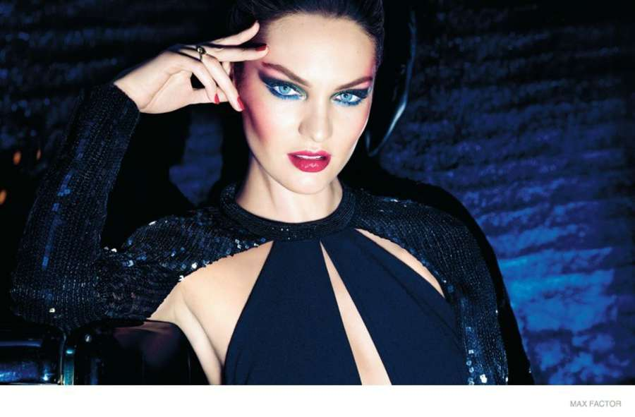 Candice Swanepoel - Max Factor Christmas 2014 Campaign