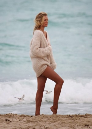 Candice Swanepoel - Photoshoot on the Beach