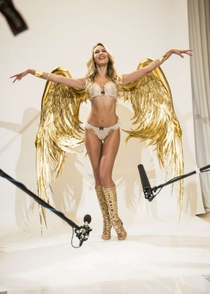 Candice Swanepoel - Victoria's Secret Fashion Show 2014 Fittings